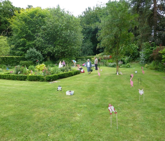 care home garden antic bowls